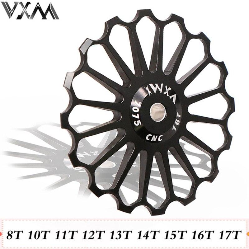 VXM MTB Road Bike Liga Desviador Traseiro Polia Cerâmica 8 t/10 t/11 t/12/ 13 t/14 t/15 t/16 t/17 t Guia Bicicleta Roda Jockey Rolamento de Cerâmica