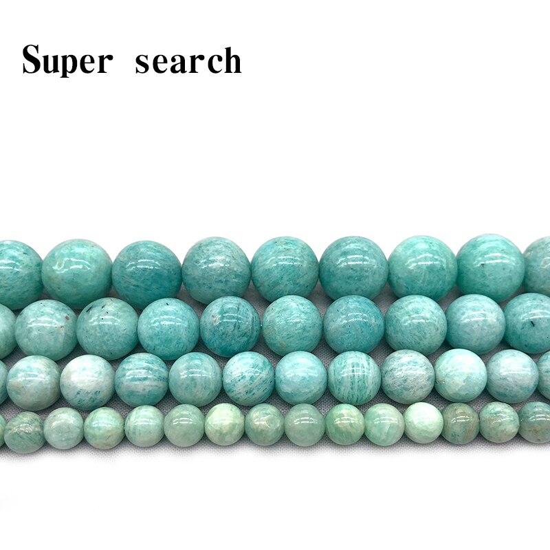 Atacado pedra natural pura azul amazonita grânulos redondos de ágata solta 6mm 8mm 10mm 12mm para pulseira colar que faz