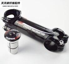 Superlogic ألياف الكربون الجذعية غطاء علوي المتوسع غسالة دراجة الطريق الجذعية سماعة 3k الكربون دراجة اكسسوارات