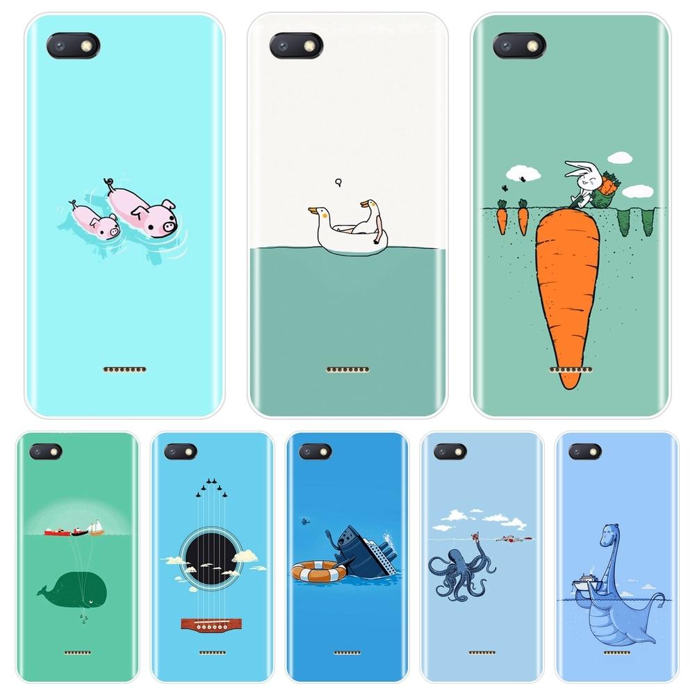 Pig Back Cover For Xiaomi Redmi S2 4 4A 4X 5A 6 6A 5 Plus Silicone Phone Case For Pocophone F1 Redmi Note 4 4X 5 5A 6 Pro Prime