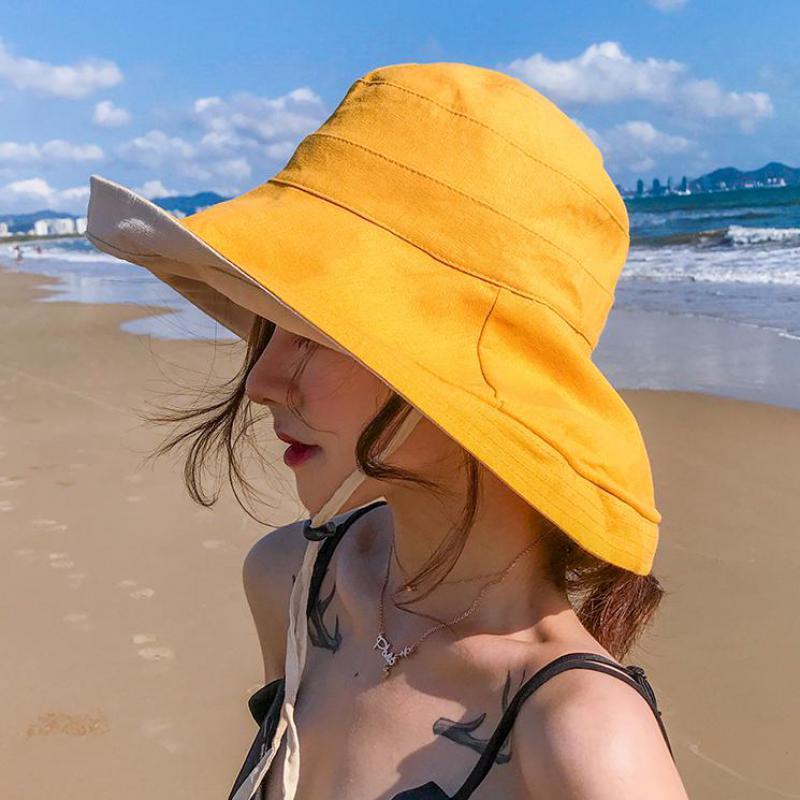 Sombreros de verano COKK para mujer, sombrero de pescador de ala ancha, sombrero disquete femenino, sombrero de sol de playa, sombrero de Sol de vacaciones, estilo coreano
