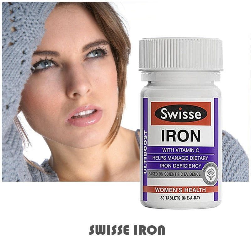 2PCS Australia Swisse Ultiboost Iron Supplement Management of Dietary Iron Deficiency suitable for Vegetarians During pregnancy