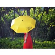 How I Met Your Mother Yellow Umbrella for Women Folding Lolita Umbrellas Dome Parapluie Parasol 8K Female Princess Rain Gear