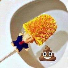 Porte-brosse de toilette WC Borstel Donald Trump,Original atout brosse de toilette, rendre les toilettes grande encore Commander dans la merde