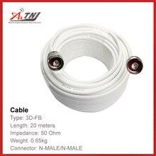 Top Kwaliteit, ATNJ 3D-FB 20 m N-Male/N-Male Coaxiale Kabel