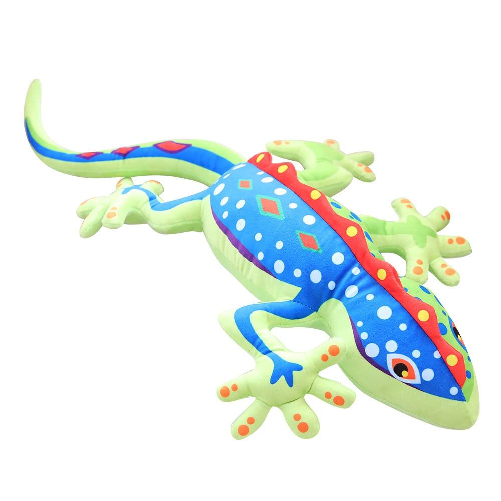 55/80cm Super Soft Animal Kawaii gecko Plush&Stuffed Toys Dolls Pillow Cushion Kawaii Stuffed chameleon Toys Doll Girls Kids