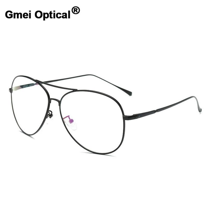 Gmei Optical Vintage Sunglasses Optical Eyeglasses Frames Myopia Metal Alloy Women Men Spectacles Oculos De Grau Eyewear A27021