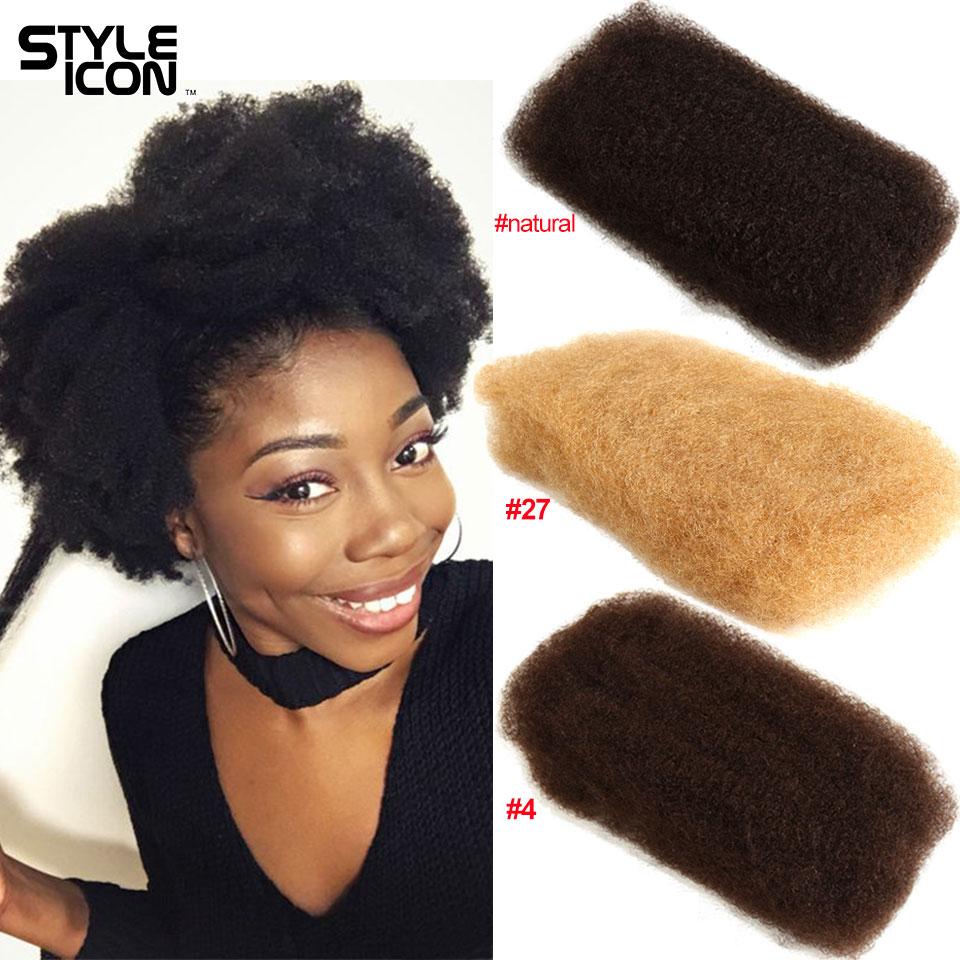 Афро-кудрявые объемные человеческие волосы 3 4 пучка, монгольские афро-Кудрявые Волнистые волосы Remy 50 г/шт. для плетения