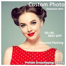 DIY 5D Photo Custom! Prive custom! Diamant Schilderen Uw Eigen Diamant Schilderij Vol Plein Strass Borduurwerk