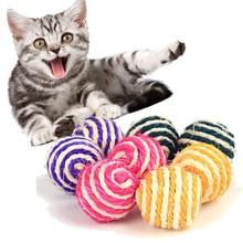 Hund Katze Kätzchen Teaser Sisal Seil Weben Bälle Spielen Kauen Fangen Spielzeug Rassel Scratch Fangen Funning Spielzeug