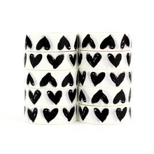 High quality 10pcs/lot Black and White Heart Washi Tape DIY Decor Scrapbooking Planner Adhesive Masking Tape Kawaii Stationery