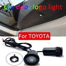 2 stks Led auto deur licht Voor Toyota corolla rav4 camry auris avensis vios yaris GS Logo Laser Projector Licht accessoires