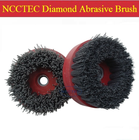 4'' Diamond abrasive brush FREE shipping   100mm Snail buckle antique renovation brush for granite marble limestone travertine