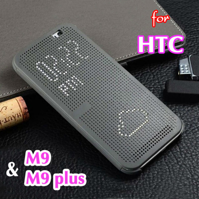 Funda abatible inteligente de silicona con puntos, funda para HTC One M9 Plus HTCM9 OneM9 HTCM9plus M9plus M 9 M9 + 9 Plus, fundas para teléfono con vista Original