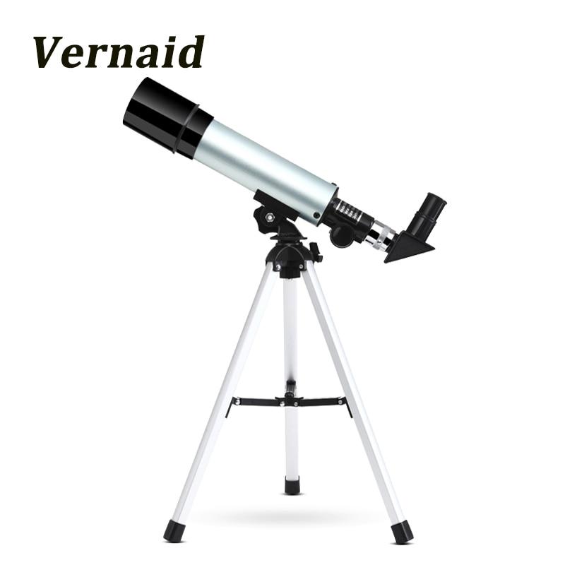 Telescopio astronómico refractivo Monocular para exteriores F36050M con trípode portátil para principiantes espacio astronómico para niños