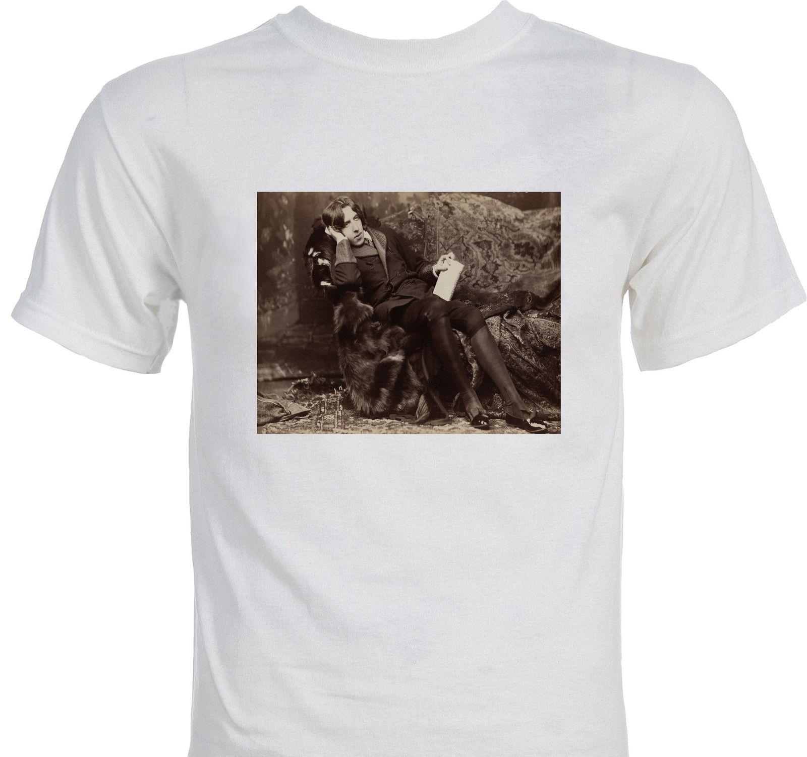 Men Good Quality T-Shirt Top Tees Fashion Cotton Casual Free Shipping Oscar Wilde Classic Literature Dorian Gray T Shirt Creator