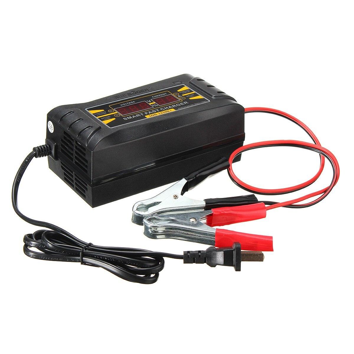 Souer genuino Cargadores de batería 12 V 10a 20 ~ 150ah batería de la motocicleta Coche Smart cargador pantalla LCD