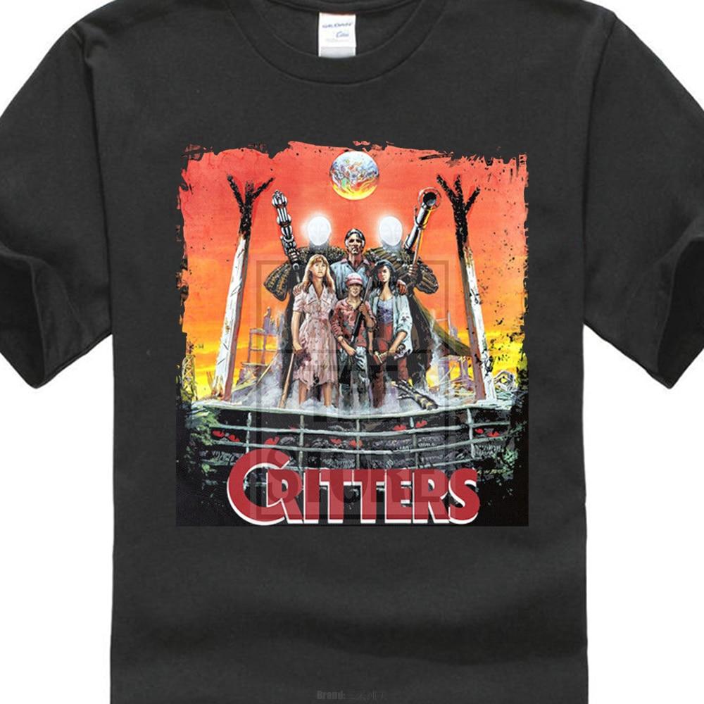 Critters 1986 cartel de película camiseta Hipster Harajuku marca ropa camiseta