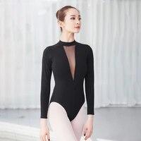 gymnastics leotard ballet leotard high neck dance leotard long sleeve leotard mesh ballet leotards for women ballerina swimsuit