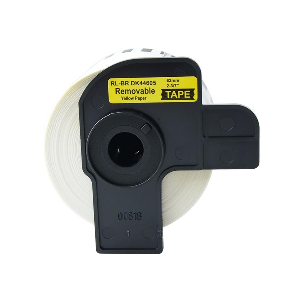 1 Etiqueta de rollo cinta DK-44605 etiqueta 62mm x 30,48 m continua Compatible para hermano QL-500/500A/550/560/570/570VM/580N/650TD/710 W