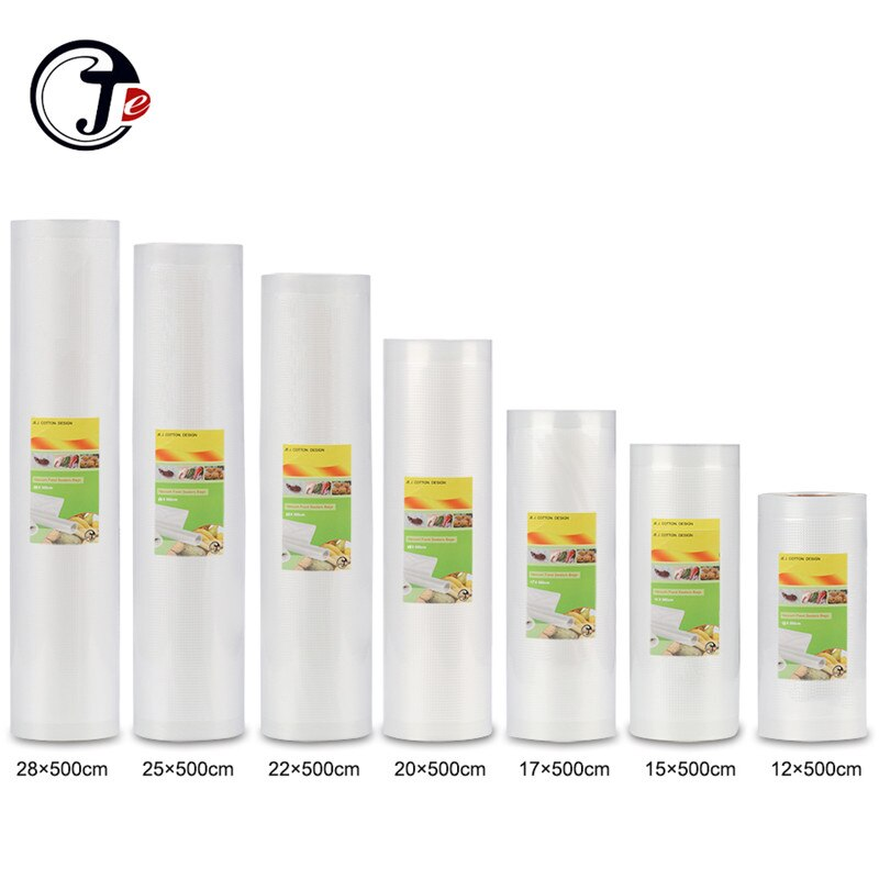 2 Rolls/lot Vakuum Beutel für Lebensmittel 12/15/17/20/22/25*500 cm für Vakuum Versiegelung Maschine Verpackung Packer Container Lebensmittel Tasche Sous Vide
