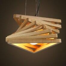الإبداعية تصميم ضوء دوامة الخشب قلادة ضوء الخشب قاعة الطعام مصابيح معلقة خشبية ريفي تركيبة إضاءة غرفة المعيشة