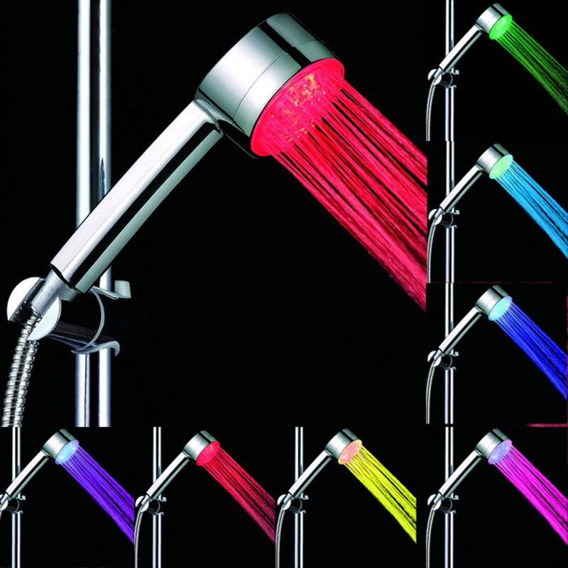 CY8008-A12 Multi-Colores de ducha de mano con agua LED cabeza de ducha de baño Control Automático 7 colores LED ducha de mano