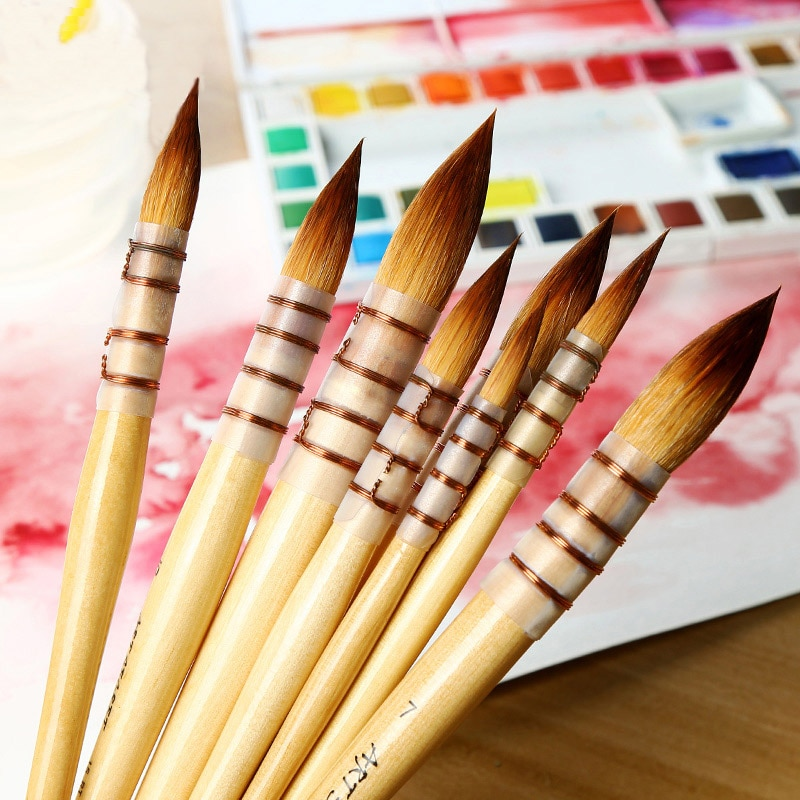 Korea art secret acuarela pelo nailon pluma amarillo pluma de grasa pluma pintura al óleo acrílica arte pintura suministros de arte