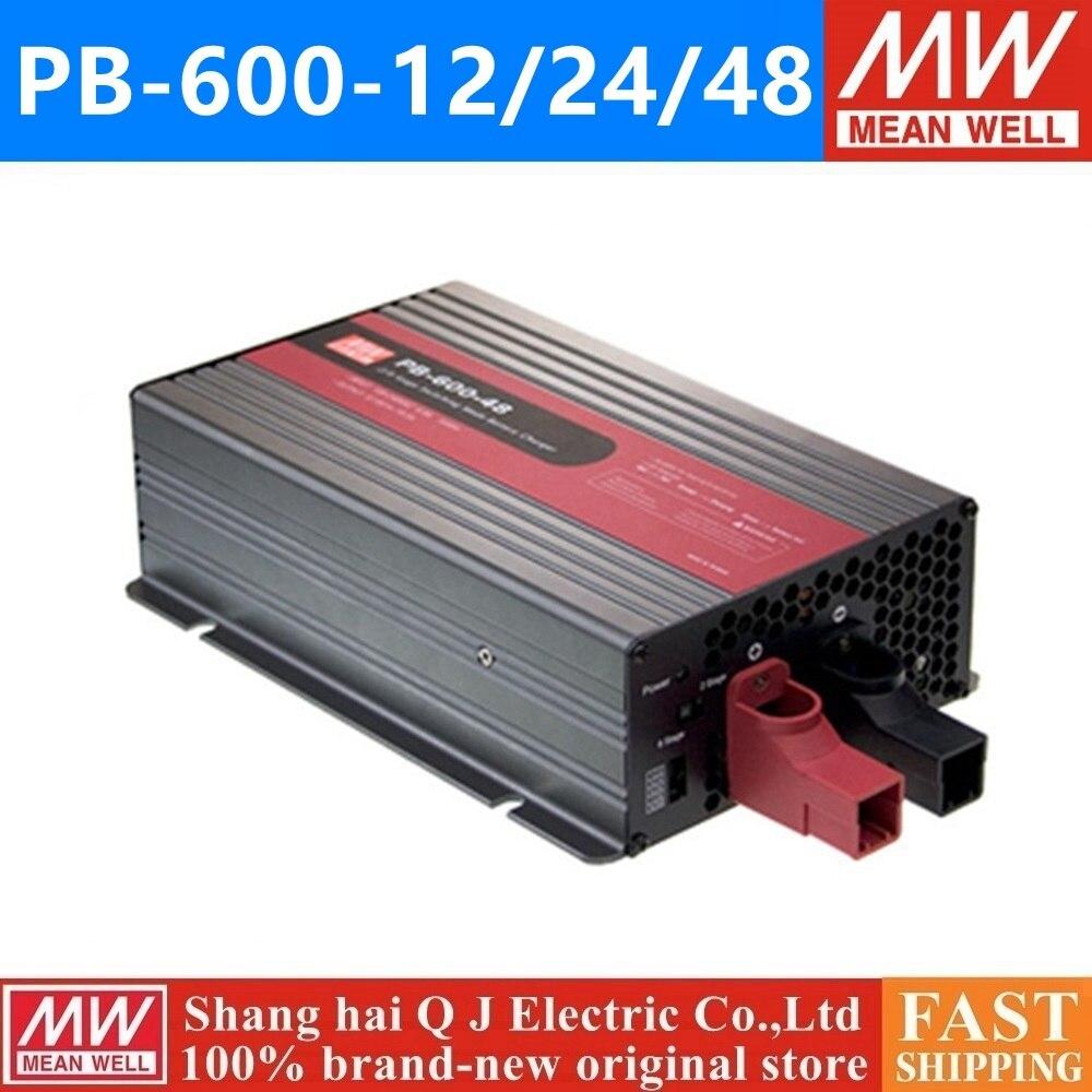 Decir bueno PB-360P 360N 12 24 48 meanwell PB-360P 360N-12 24 V 48 V 360 W cargador de batería de salida única