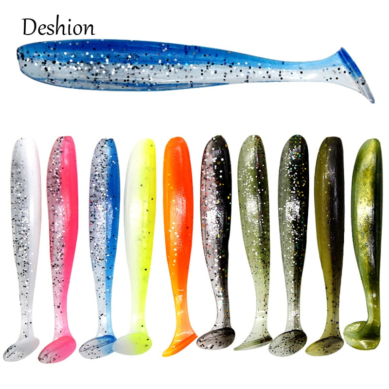 10 Señuelos de Pesca mashion Easy Shiner unids/lote de 70mm/2g, cebo de pesca Artificial, señuelo suave para mar, sábalo