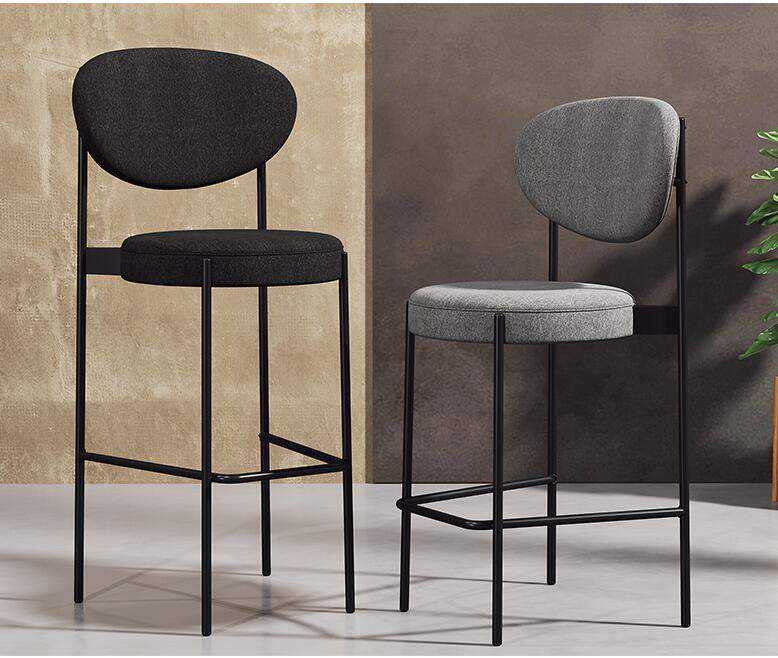 Фото - Барный стул, домашний высокий стул, модный креативный передний стол, современный минималистичный задний барный стул [магазин сша] кованый железный стеклянный высокий барный стол патио барный стол черный