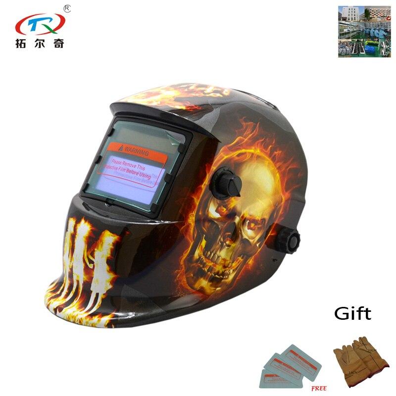 Máscara de Escurecimento Capacete de Soldagem Máscara de Solda Lente para a Máquina de Solda Automático Hd14-2200de Tig Mig Mma –