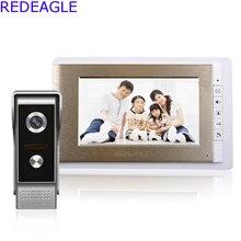 Système daccès filaire dinterphone vidéo de porte de 7 pouces avec 1 moniteur + caméra IR 700TVL + câble gratuit de 4M