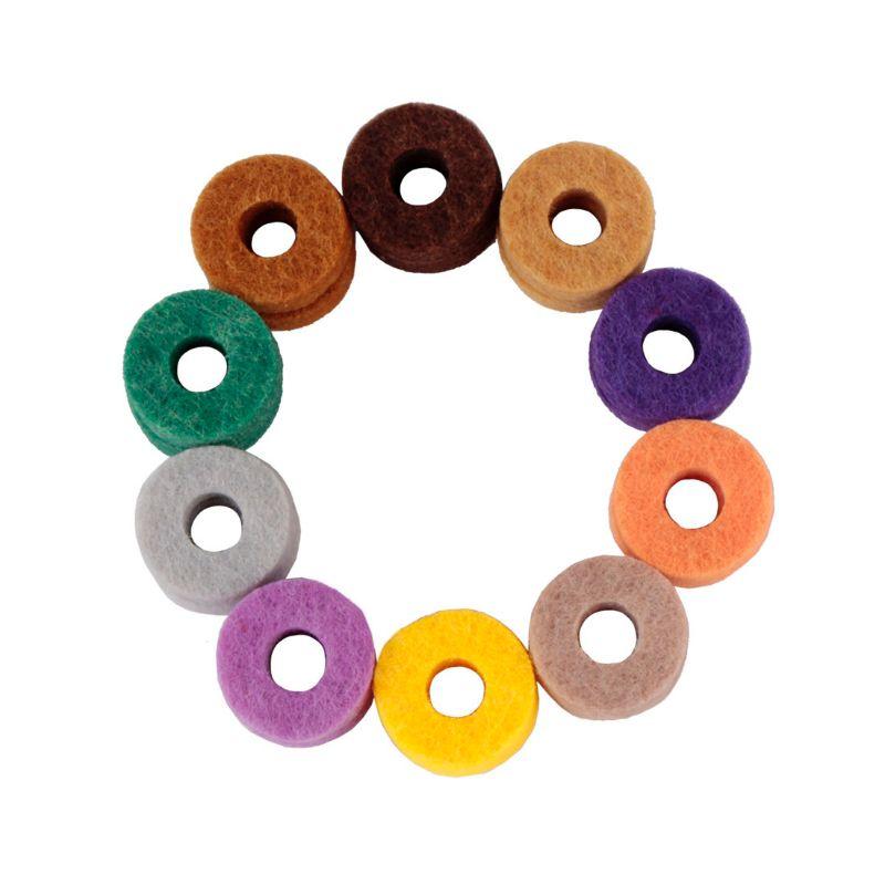 Arandela de fieltro Cymbal para juego de tambor Color aleatorio 20 piezas