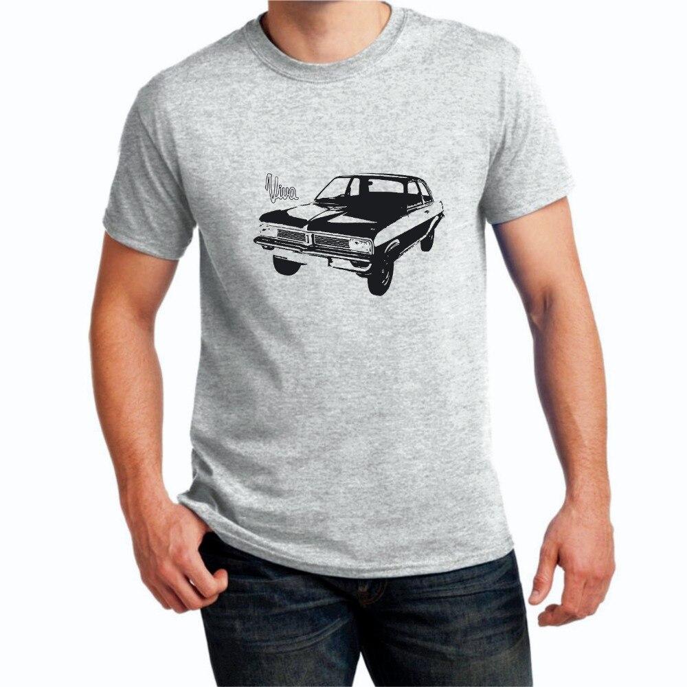 Camiseta Vauxhall Viva Retro clásica de coche 2019 verano marca Casual divertida camiseta de manga corta de algodón novedad