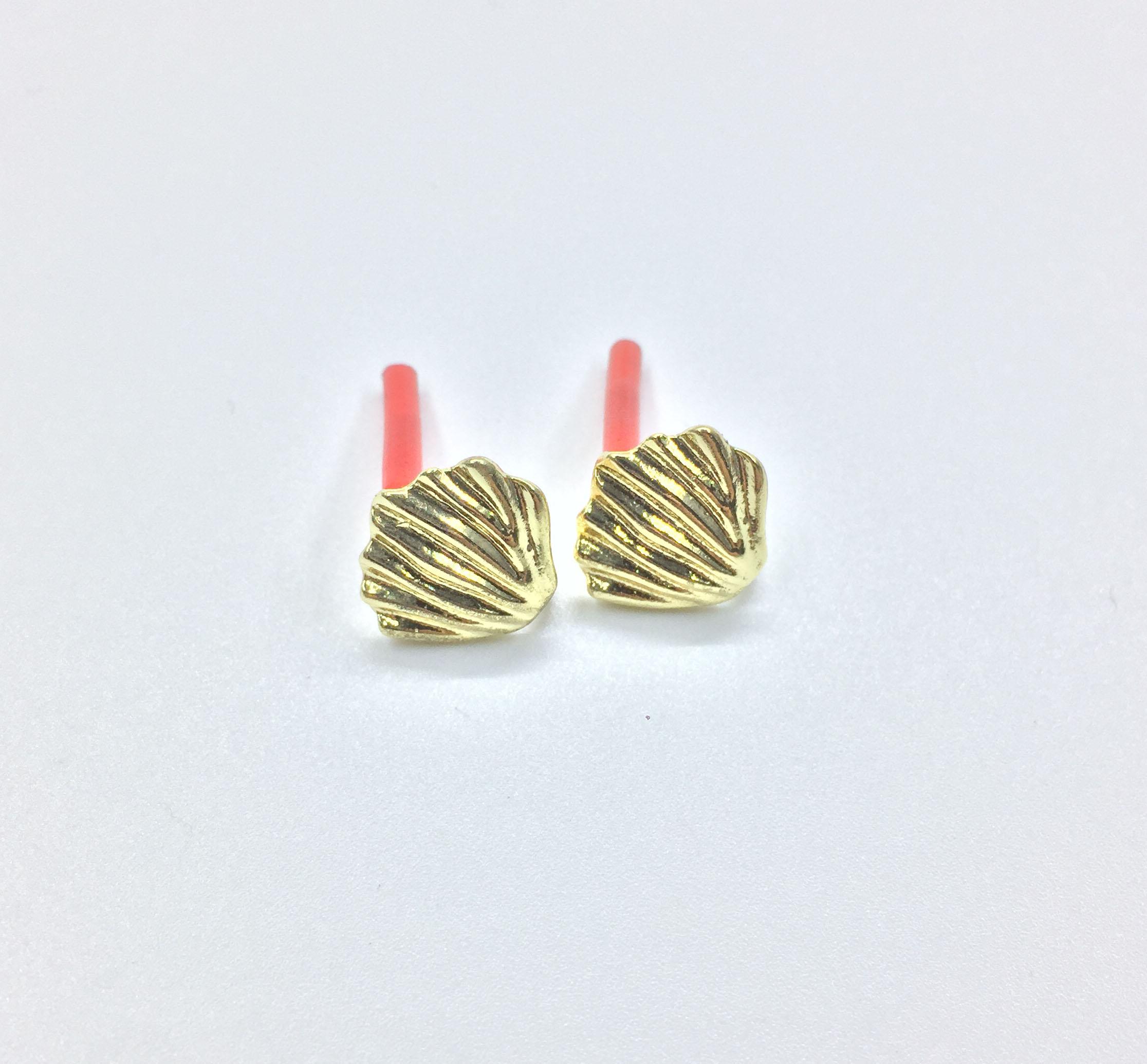 Eruifa Hot sell 10pcs 12mm Shell Stud Based Earring Zinc alloy Women Wholesales earring jewelry DIY handmade