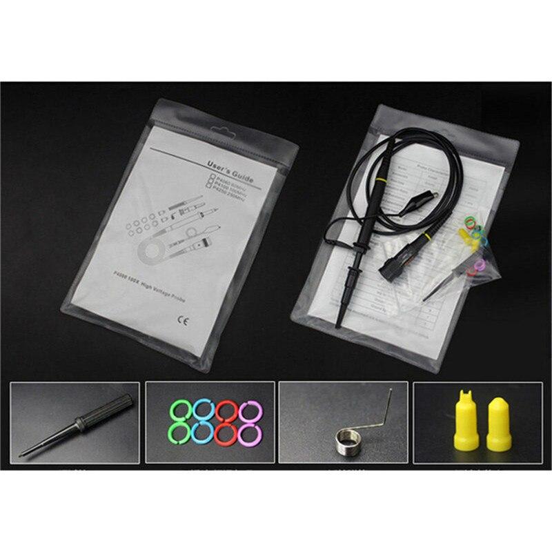 P4100 profesional alta tensión Osciloscopio sonda accesorios 100MHz cocodrilo Clip sonda de prueba Kit Osciloscopio