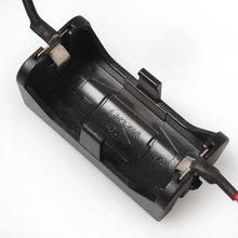 20 pcs/lot boîte de stockage de batterie de support noir en plastique avec 2