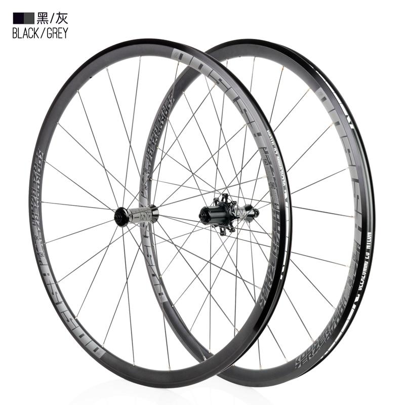 High quality Bicycle wheel 700C High 30mm Caliper Brake Aluminium alloy Road Bike wheelset 700c x19-32c tyre Front rear wheelset