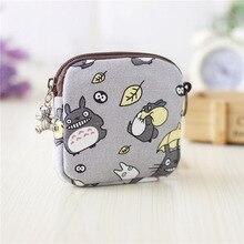 Impression de dessin animé sur toile porte-monnaie pour femme sacs de serviette hygiénique femme petit argent pochettes bolsas carteiras feminina pour les filles