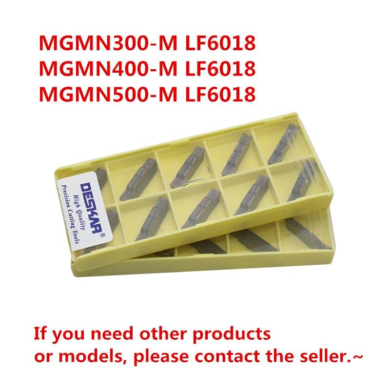 MGMN300-M de ranurado DESKAR LF6018/MGMN400-M LF/MGMN500-M LF6018, insertos de corte, para acero inoxidable, para MGEHR/MGIVR