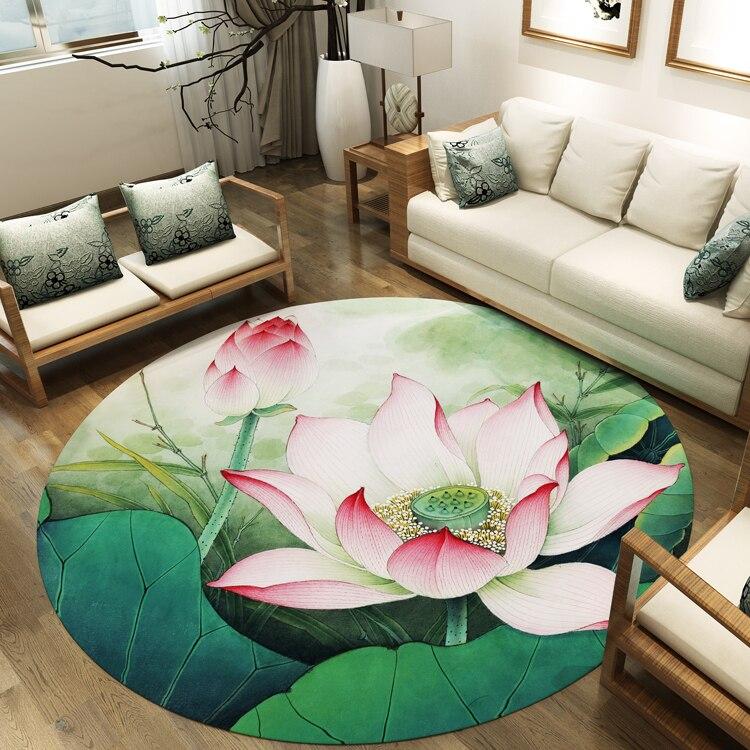 Alfombrilla de loto para sala de té, alfombra redonda, Zen, sala de estar, cojín de estilo chino, dormitorio, estudio, cope, silla, alfombra, cojín de ordenador, esterilla de yoga