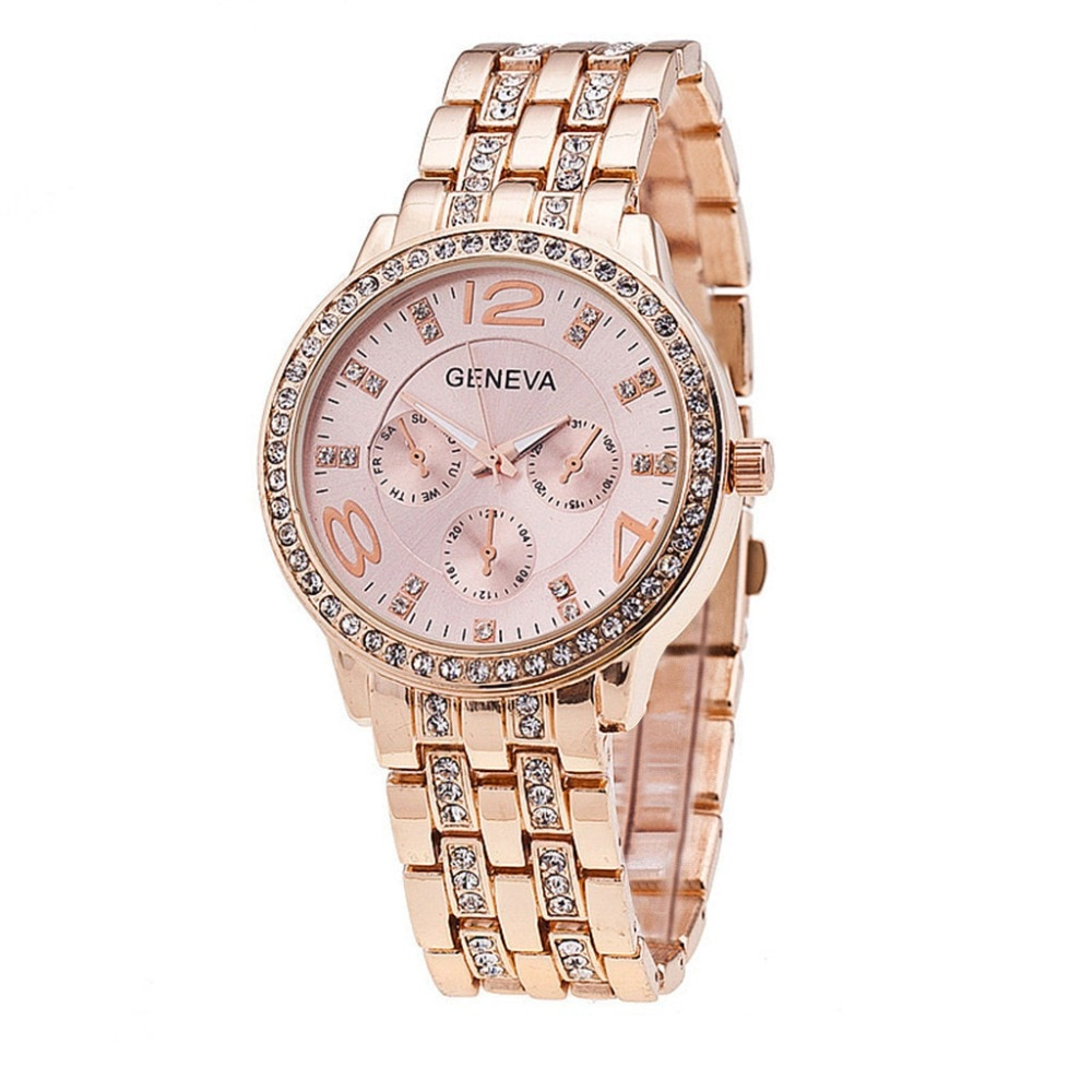 Reloj de pulsera para Mujer de moda novedosa, de acero inoxidable, dorado, plateado, analógico, de cuarzo, Bayan Saat