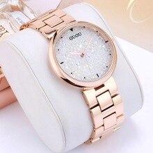 2018 GUOU Watch Top Luxury Full Diamond Dial Women Watches Fashion Shiny Rhinestone Ladies Hour relogio feminino relojes mujer