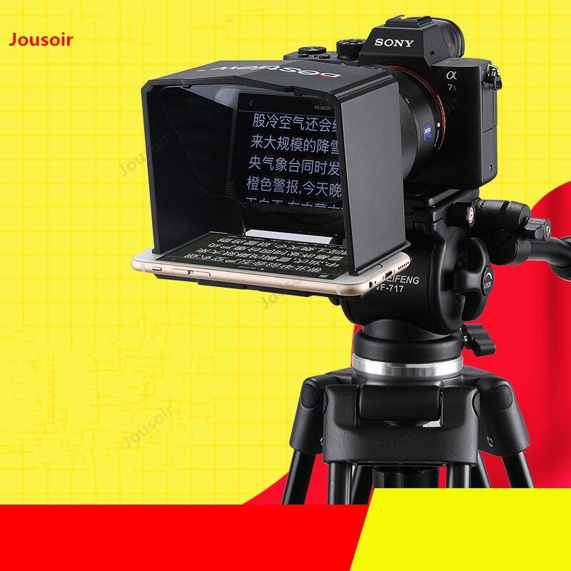 Estudio fotográfico Teleprompter para teléfono móvil cámara SLR video entrevista Teleprompter Video cámara Teleprompter tablero CD50 T07A
