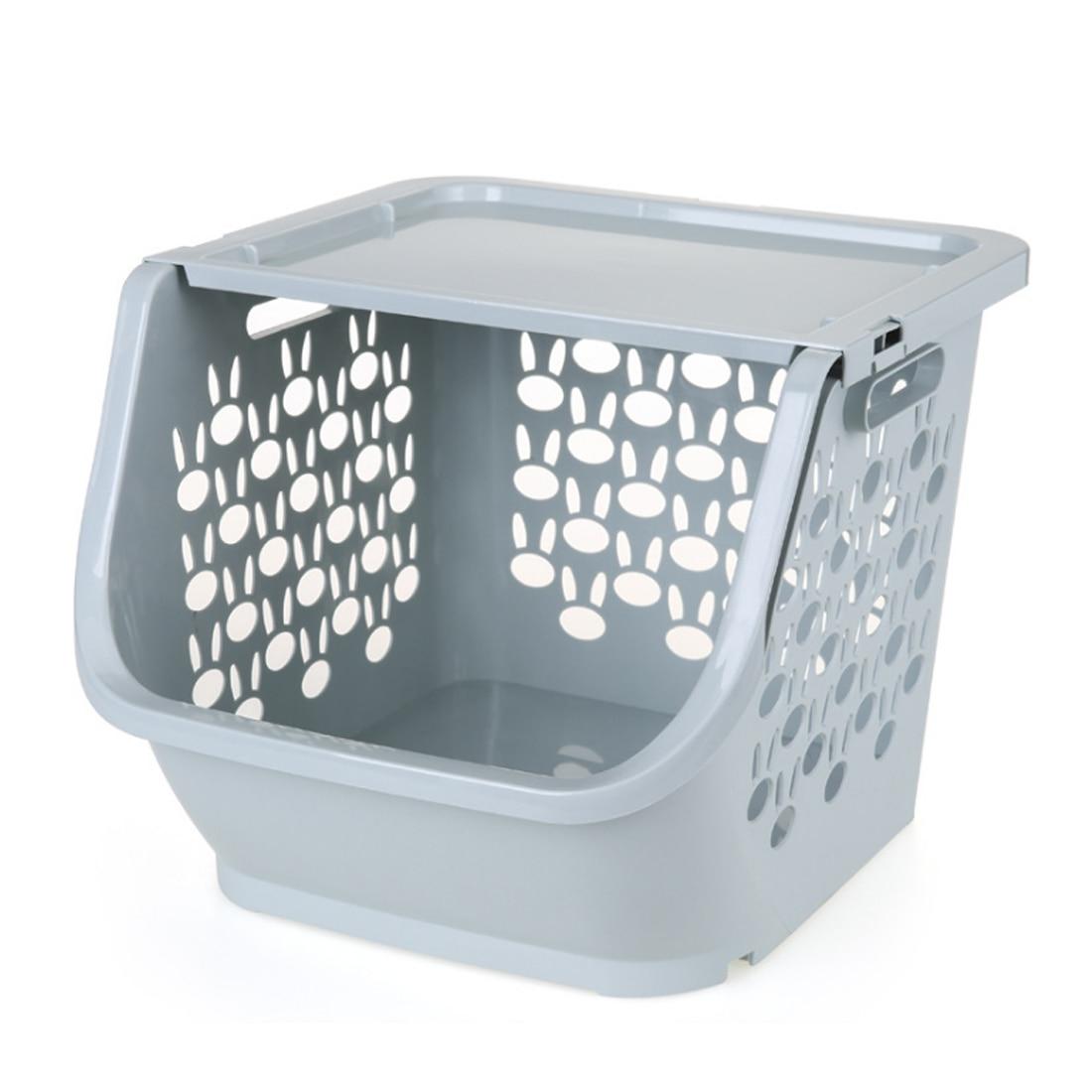 Canasta de plástico para almacenamiento de cocina HIPSTEEN, multifuncional, apilable, hueco, de vegetales para cocina, estantes para frutas, cesta, estanterías