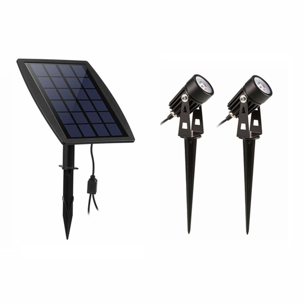 3W LED Landscape Solar lights Waterproof Outdoor Solar Spotlight for Backyard Driveway Patio Gardens Lawn