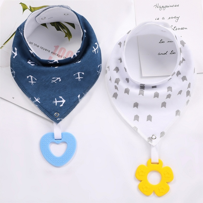 Baberos baberos Bandana para bebé Unisex para dentición y babeo-paquete de 6 Baberos de algodón absorbentes Súper suaves, juego de juguetes para dentición de bebé Bab
