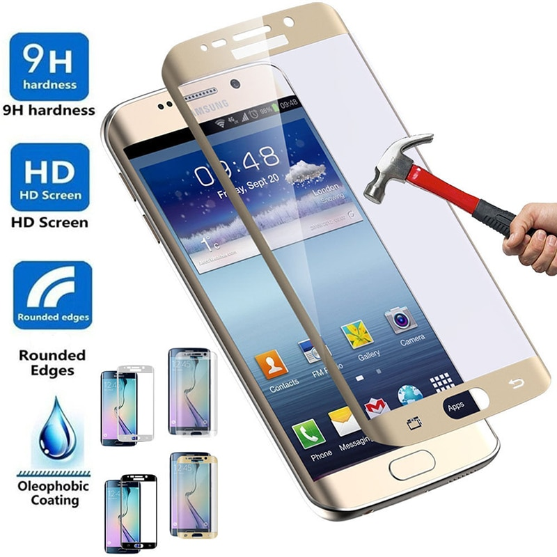 3D Curved Full Cover Tempered Glass Film Screen Protector for Samsung Galaxy S6Edge S6 S7 S 6 7 Edge