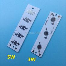5 stks LED Rechthoek aluminium bodemplaat 3 W 5 W high power radiator Gebruik voor LED Lamp chip Wit Printplaat